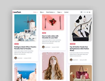 NoonPost - Personal Blog HTML Template