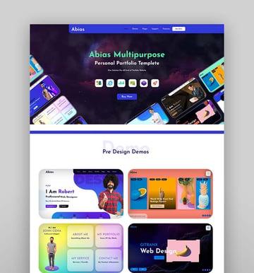 Abias - Multipurpose Personal Portfolio HTML Template