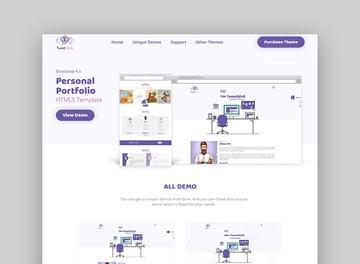 Tweetsbird - Personal Portfolio HTML Template