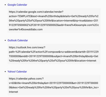 Generate Event Calendar Links For Google, Yahoo And Outlook – calendar-link