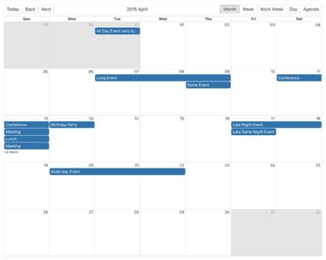 React Big Calendar