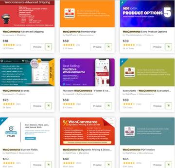 Topselling WooCommerce Addons on CodeCanyon