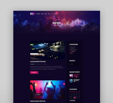 DJ Rainflow | A Music Band & Musician WordPress Theme