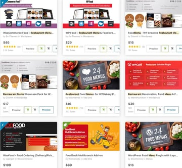 restaurant menu food menu plugins