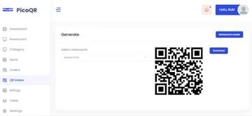 PicoQR - (SaaS) Contactless Digital Restaurant QR Menu Maker