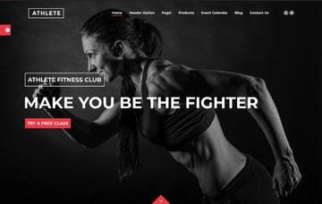Athlete Fitness | Gym and Sport WordPress Theme