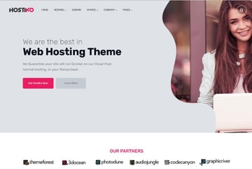 Hostiko WordPress WHMCS Hosting Theme