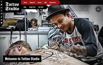 Tattoo Studio - Responsive WordPress Theme