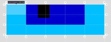Nested grid outer grid tracks