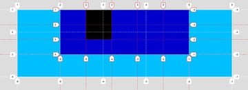 Nested grid inner and outer grid