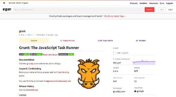 Grunt package manager