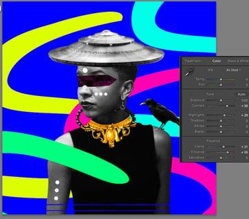 adjusting contrast and exposure in Lightroom