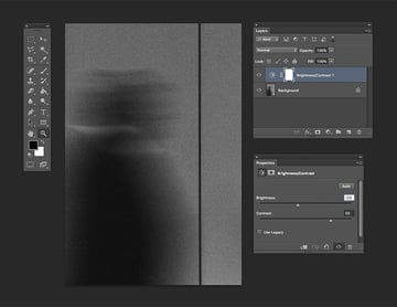 Adding a new adjustment layer to set brightness and contrast