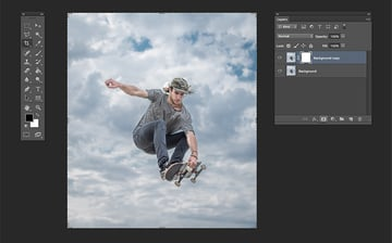 Using Layer Masks to clean background