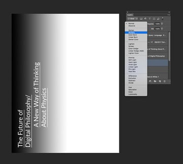 Use black on the left and white on the right side of the layer and set the blending mode to Multiply