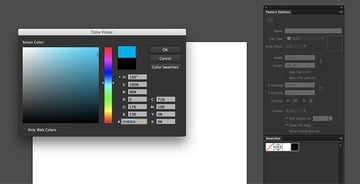 Select a blue stroke color and none for fill color