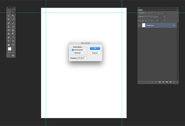 Add a 1 inch margin around the document
