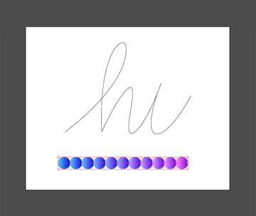 Using the blend tool blend both circles