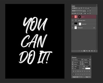 Create a layer mask of the text on a new layer