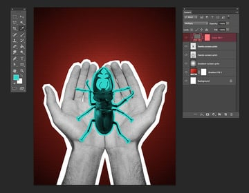 Hold Option and click while on the new color fill layer and set the blending mode to Multiply