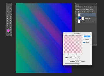 Apply a motion blur filter on the brush stamps to create a light effect