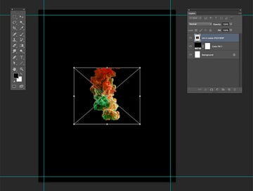 Drop in the Ink in Water image onto Photoshop