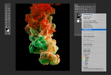 Rasterize the Ink in Water image layer
