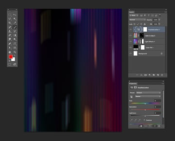 Create an adjustment layer and clip it to the subsequent layer to change the color