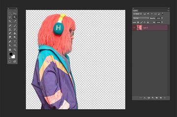 Apply the layer mask to the DJ layer