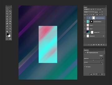 Add a brightnesscontrast adjustment layer