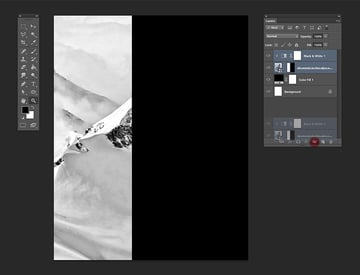Create a new group consisting of the slopes layer and the adjustment layer