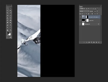 Unlink the image from the layer mask and move