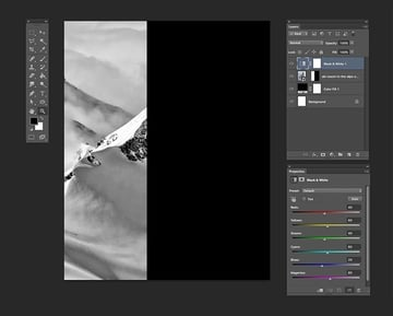 Add a Black White adjustment layer
