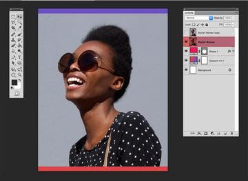Duplicate the stylish woman layer
