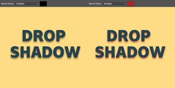 Blend mode is the style in which the shadow will blend with the background