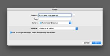 Export the file