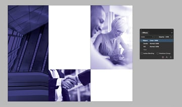 set the blending mode to Color on pages 2 and 3