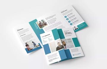 Square Gatefold Brochure