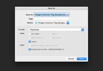 Save the file as a psd or tiff file