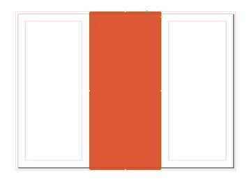 Cover page 2 with a rectangle and set the color to orange