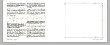 duplicate or create a new text frame on the opposite page