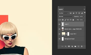 add a new layer and create a seamless look with the brush tool