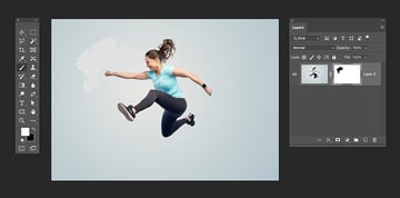 use the white foreground color to reveal parts of the image