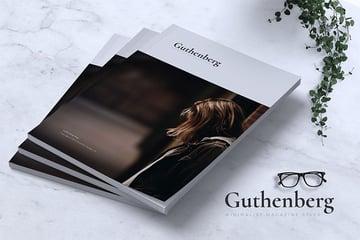 Guthenberg minimalist magazine styles
