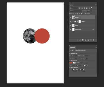 set the fill color of the ellipse to red