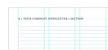 add a folio to the newsletter design