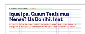 create two text frames for the headline and intro