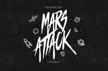 Mars Attack Display Typeface
