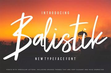 Balistik Display Board Font