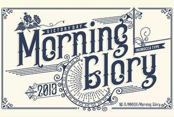 Morning Glory Font Display